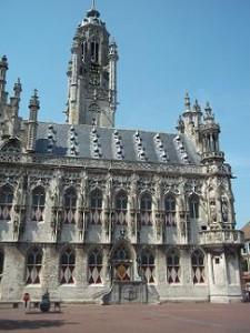 oude stadhuis op de Markt van Middelburg