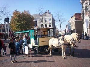 de paardentram in Middelburg
