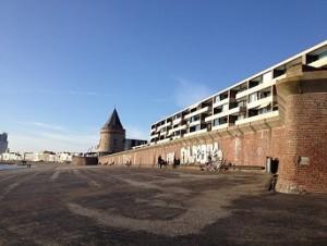 langste bank Vlissingen en gevangentoren op boulevard