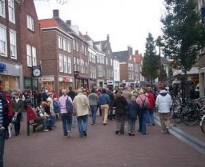 winkelstraat Lange Delft