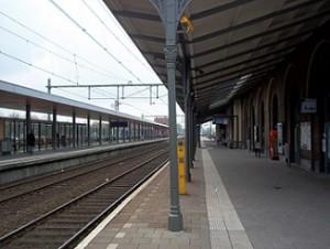 perron op treinstation Middelburg