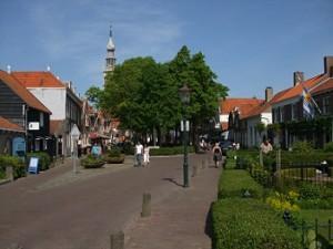 het dorpsplein in Veere