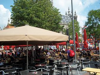 terrasjes op de Markt in Middelburg