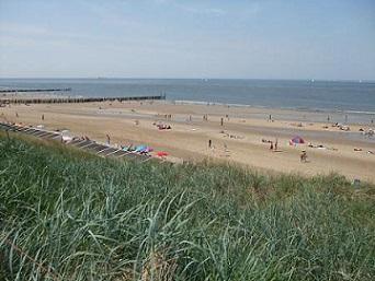 het strand van Domburg