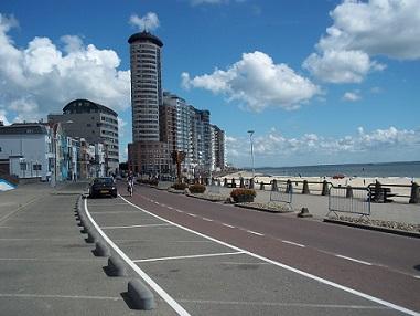 fietsen over boulevard van vlissingen