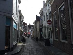 winkelstraat in de binnenstad