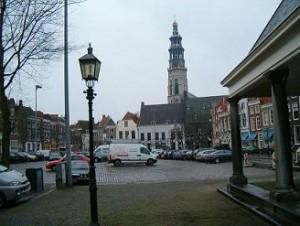 Damplein in Middelburg naast de abdij
