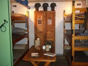 interieur van de bunker bij de oranjemolen
