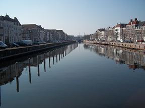 Kinderdijk gracht in Middelburg