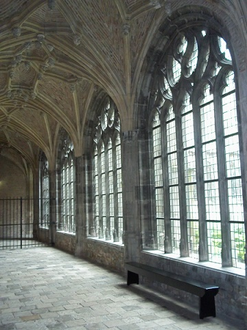 kloostergangen in abdij middelburg
