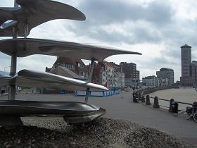 sculptuur koopvaardij op de boulevard van vlissingen