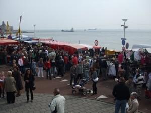 markt op de boulevard Vlissingen