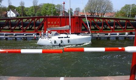 gerenoveerde brug van Oost-Souburg in Zeeland