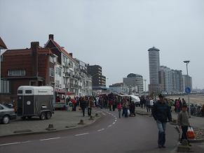 paasmarkt op de boulevard van vlissingen