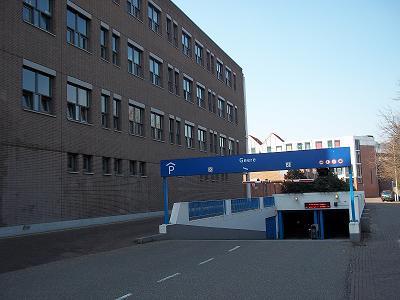 parkeren in de Geere Kelder in Middelburg