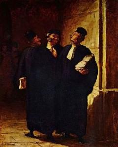 schilderij over een advocaat