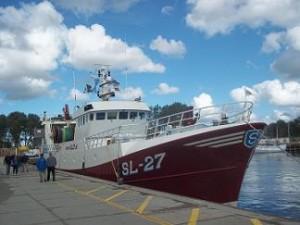 vissersboot sl-27 johannes bij vismijn vlissingen