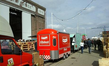 food trucks op het festival