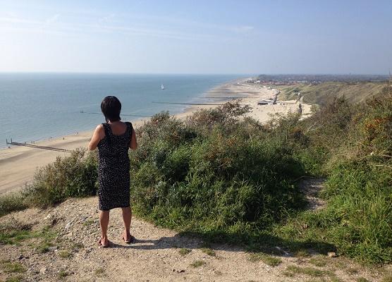 uitzicht van duinen over zoutelande zeeland