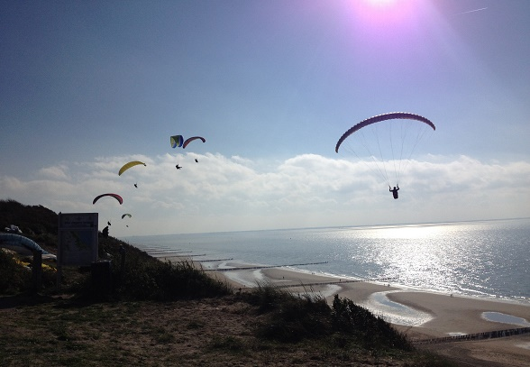 paragliding in zoutelande