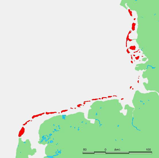 waddeneilanden op kaart