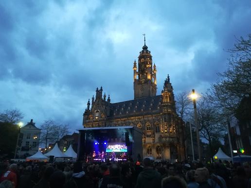live muziek op de Markt op Koningsdag