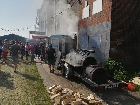 BBQ op festival terrein