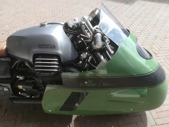 de kuip van de Moto Guzzi V8 Vanguard