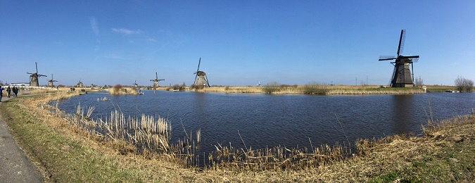 molens van kinderdijk, picture made by Bo Jin in Boston