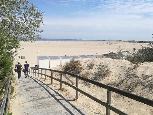 pad door de duinen naar Breezand