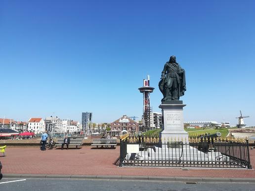 Michiel de Ruyter standbeeld in Vlissingen