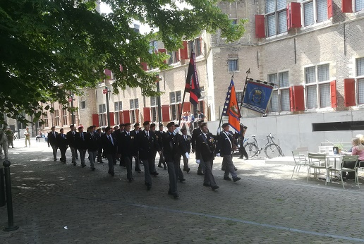 Zeeuwse veteranen op abdij Middelburg
