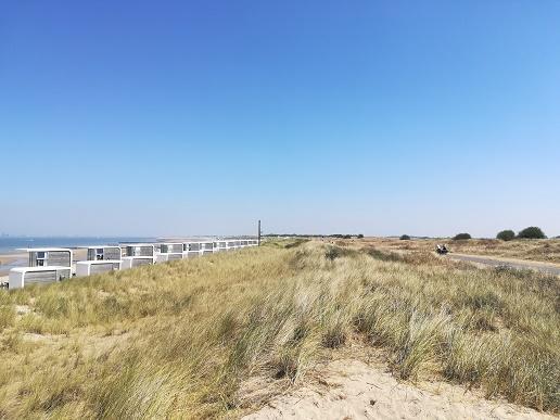 vakantiehuisjes op het strand