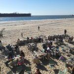 strand Vlissingen met pier 7 en zeeschi
