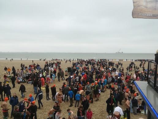 verkleden op het strand bij Pier 7