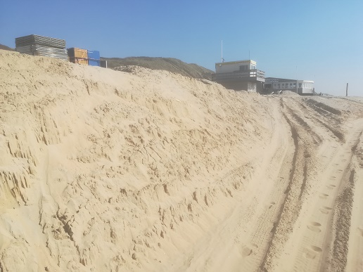 dishoek strand werd verhoogd
