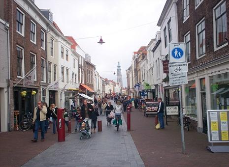 winkelstraat Lange Viele Middelburg