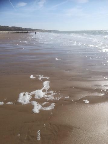 zoutelande wandelen op strand