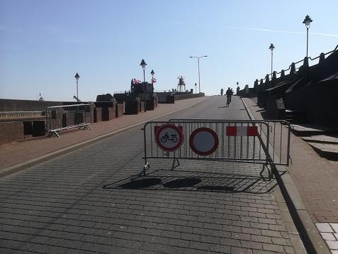 boulevard afgesloten in Vlissingen