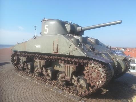 westkapelle sherman tank