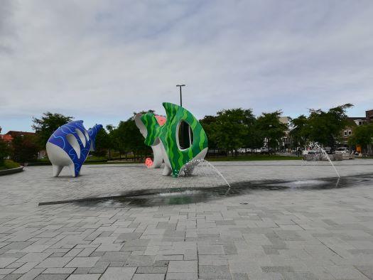 Spuiplein Breskens beelden met fontein